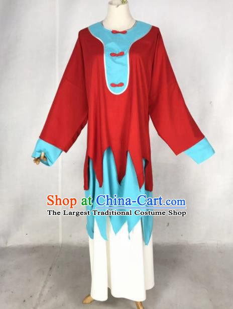 Chinese Traditional Peking Opera Female Prisoner Red Dress Ancient Inmates Dou E Costume for Women