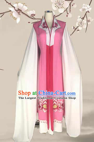 Chinese Traditional Peking Opera Actress Pink Dress Ancient Taoist Nun Costume for Women