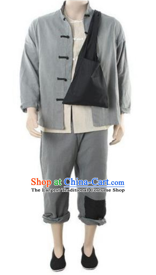 Ancient Chinese Poor People Costume Farmer Costumes for Men