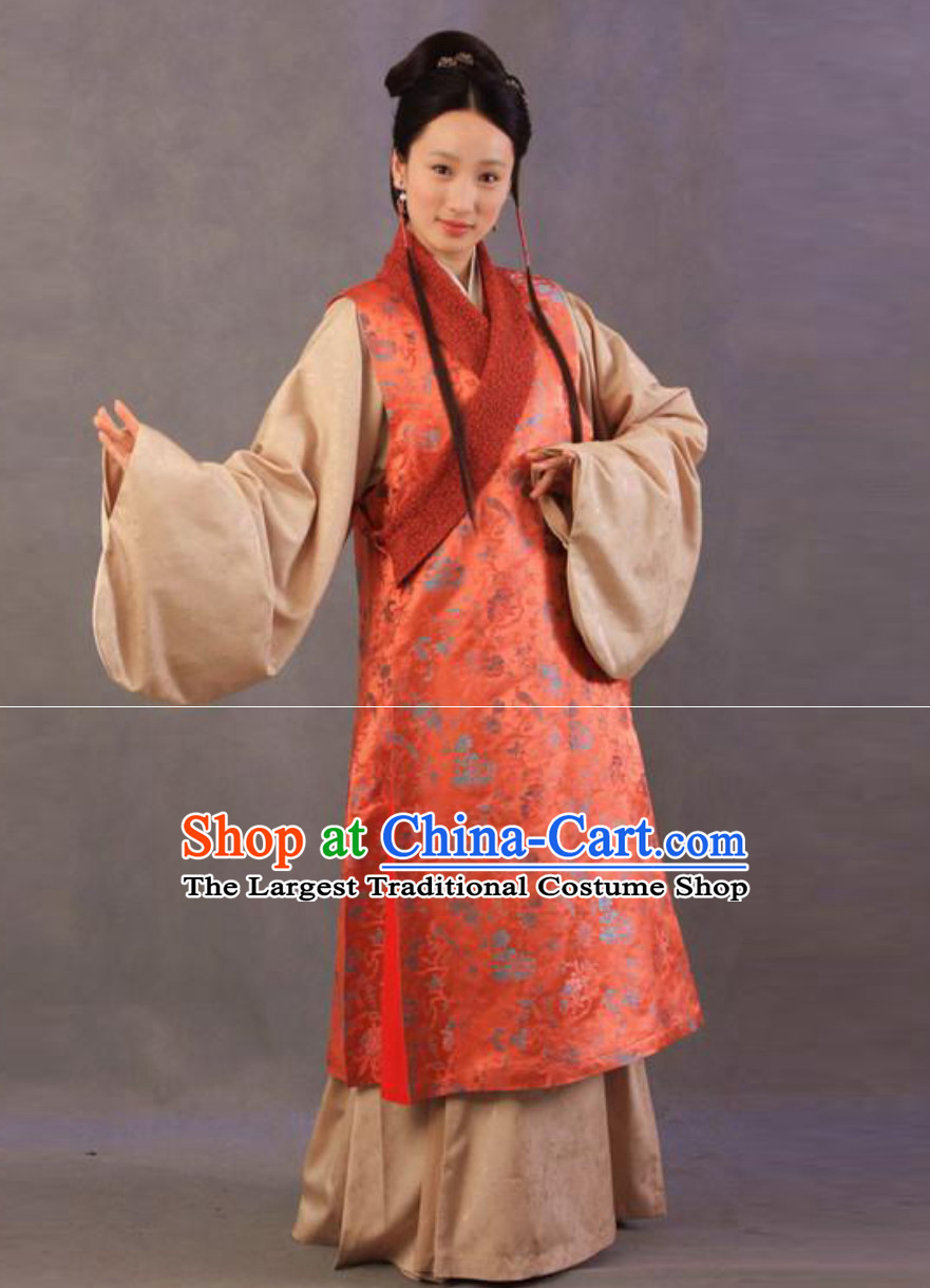 Ancient Chinese Female Civilian Costumes Normal People Costumes for Women