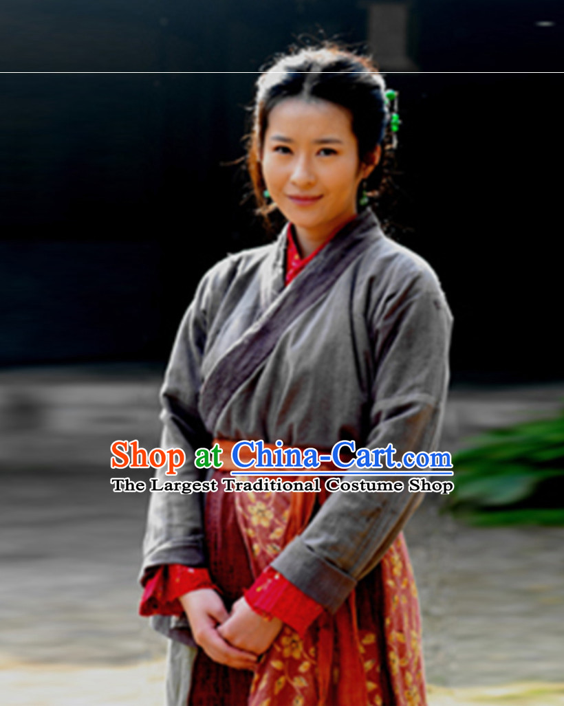 Ancient Chinese Female Civilian Costumes Common People Hanfu Costumes for Women