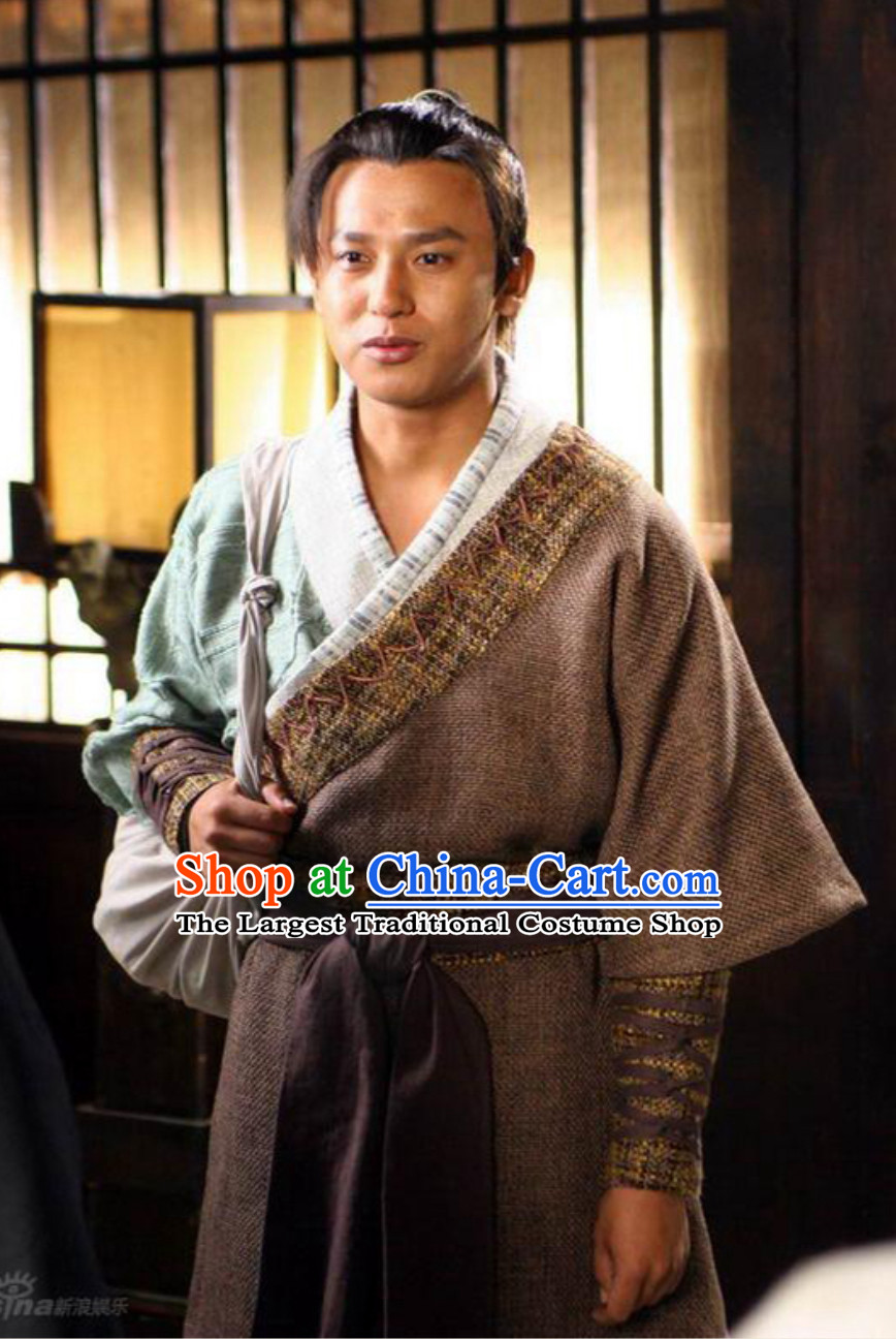 Ancient Chinese Traditional China Male Civilian Costume Common People Hanfu Costumes for Men