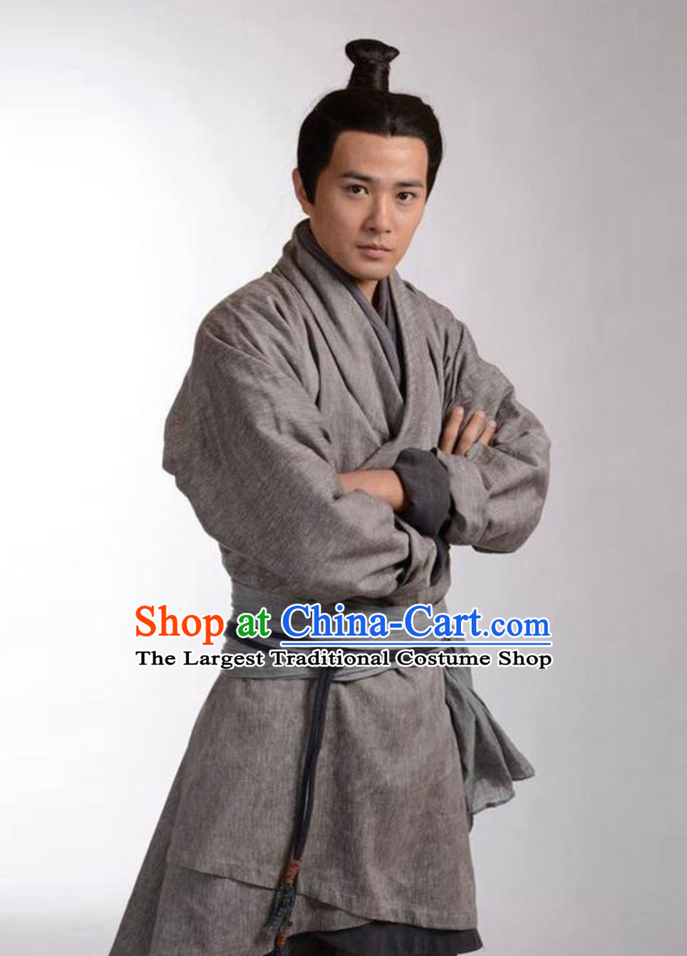 Ancient Chinese China Male Civilian Costume Common People Hanfu Costumes for Men