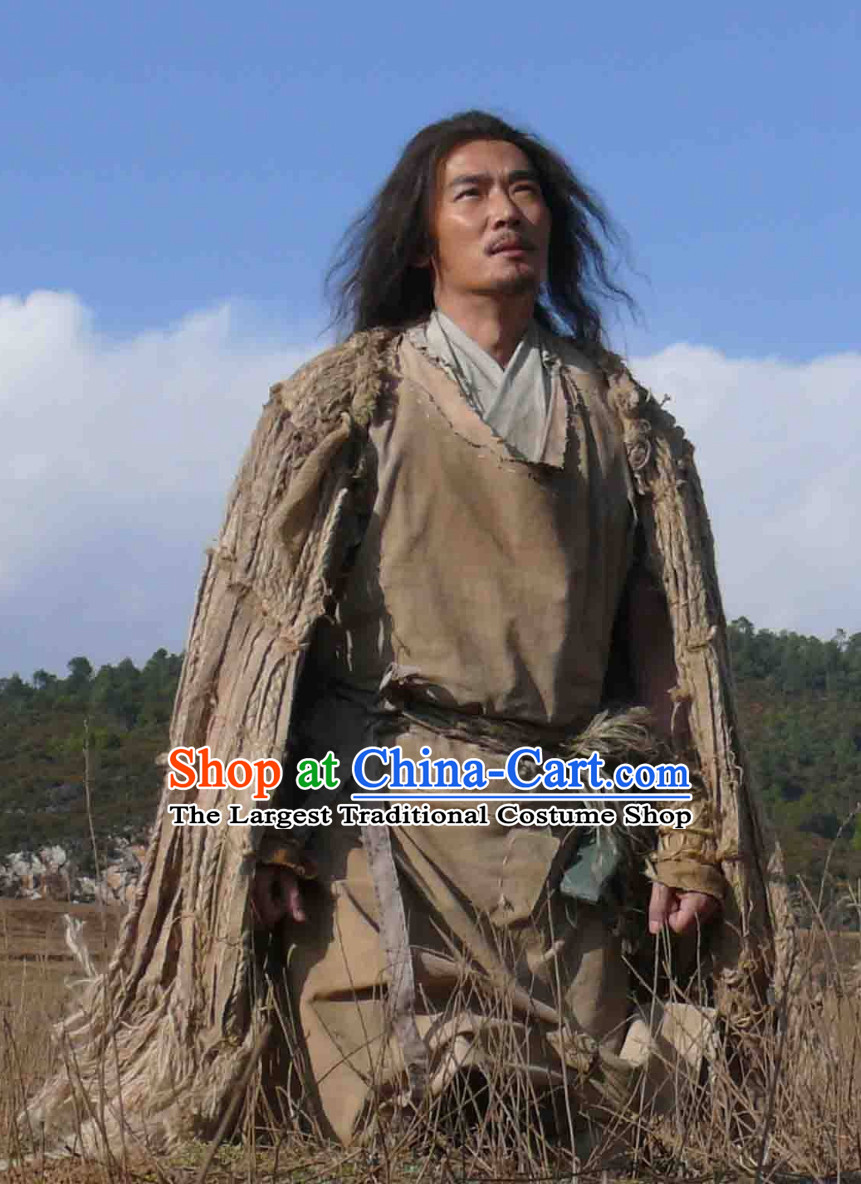 Shennong Chinese White Supernatural Being Immortal Costume for Men