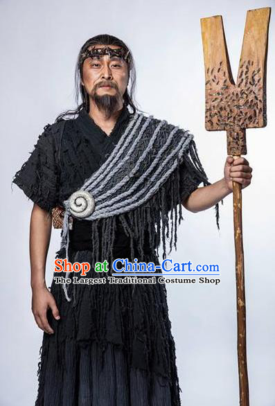 Chinese Ancient Lost Mythology Emperor Yu Xia Dynasty Dayu Costumes Complete Set