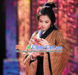 Chinese Ancient Stateswoman Fu Hao Hanfu Dress Shang Dynasty Empress Fuhao Costumes Complete Set