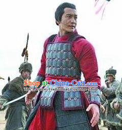 Chinese Ancient Southern Song Dynasty General Yue Fei Costumes Body Armor Complete Set