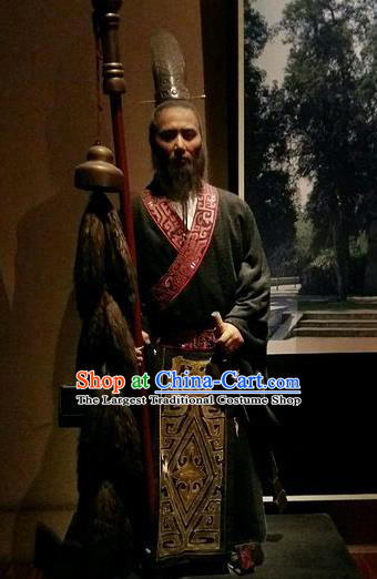 Chinese Ancient Western Han Dynasty Diplomat Zhang Qian Costumes Complete Set