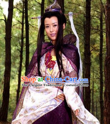 Chinese Ancient Mythology Goddess Sunv Hanfu Dress New Stone Age Court Princess Complete Set