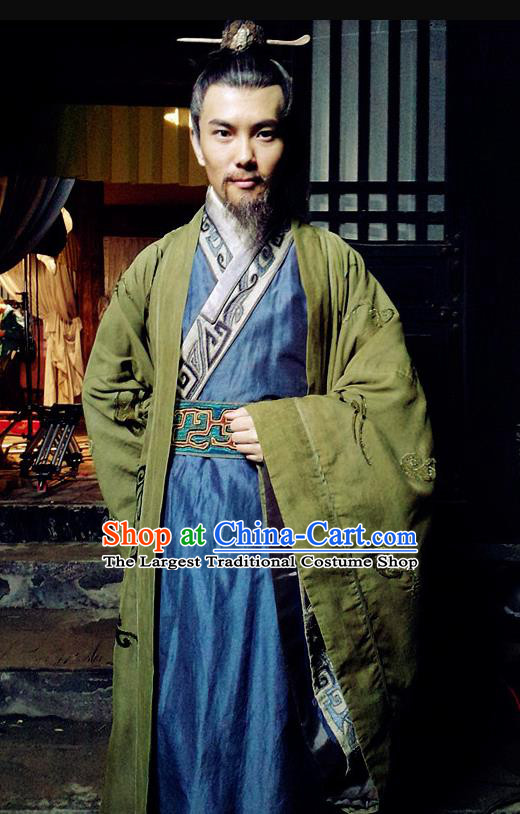 Chinese Ancient Zhou Dynasty Minister Chang Hong Costumes Complete Set