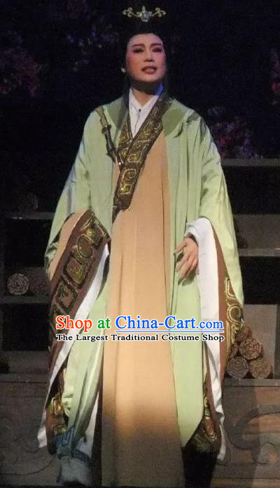 Chinese Ancient Warring States Period Minister Han Fei Green Hanfu Clothing Philosopher Han Feizi Hanfu Costumes Complete Set