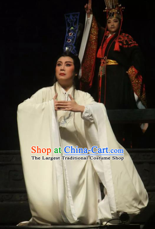 Chinese Ancient Warring States Period Minister Han Fei White Hanfu Clothing Philosopher Han Feizi Hanfu Costumes Complete Set