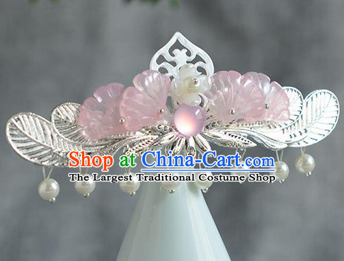 Chinese Ancient Ming Dynasty Princess Hair Crown Hairpins Traditional Hanfu Court Hair Accessories for Women