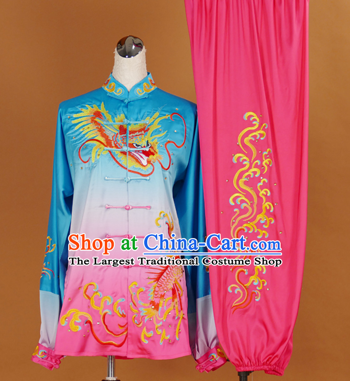 Traditional Kung Fu Tai Ji Clothing Suits Stage Performance Competition Full Set