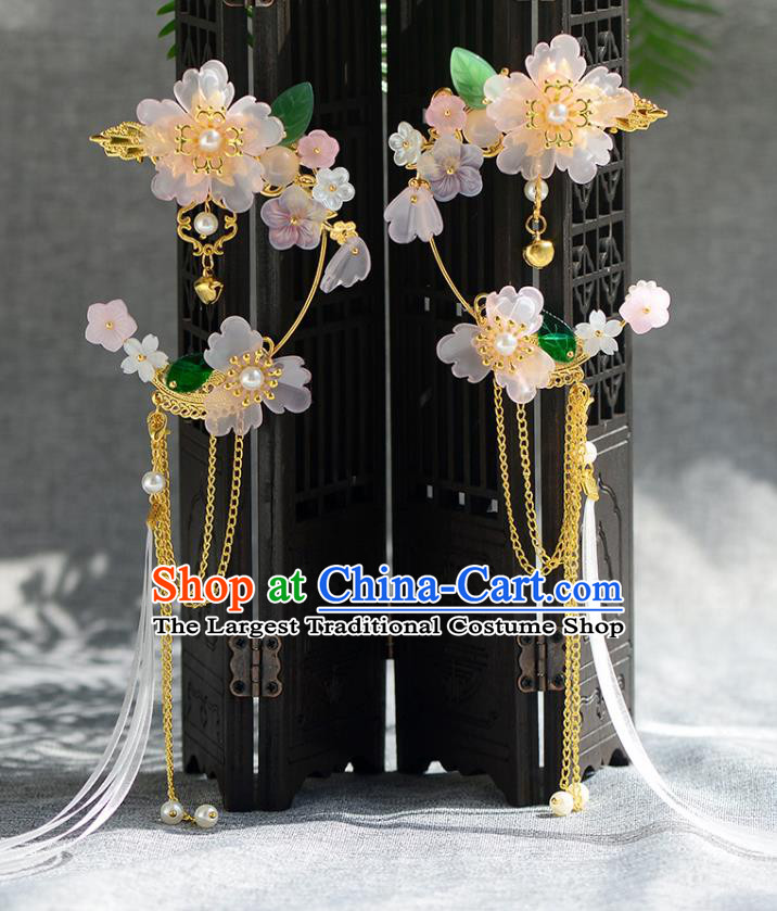 Chinese Ancient Ming Dynasty Palace Princess Hair Claws Hairpins Traditional Hanfu Court Hair Accessories for Women
