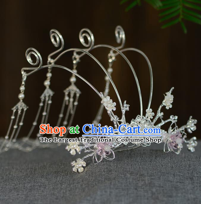 Chinese Ancient Tang Dynasty Princess Phoenix Coronet Hairpins Traditional Hanfu Court Hair Accessories for Women