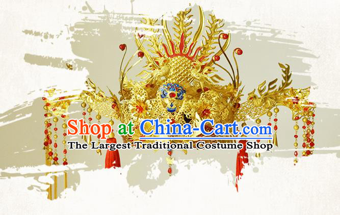 Chinese Ancient Ming Dynasty Princess Phoenix Coronet Hairpins Traditional Hanfu Court Hair Accessories for Women