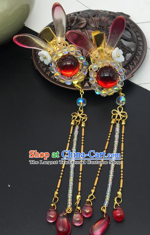 Chinese Ancient Ming Dynasty Princess Pearls Hair Claws Hairpins Traditional Hanfu Court Hair Accessories for Women