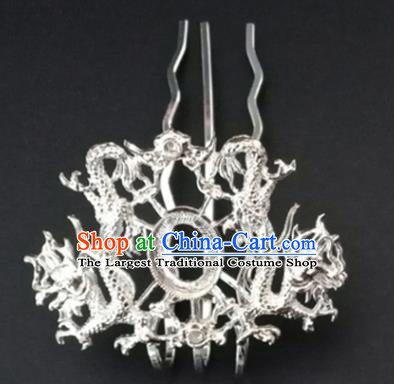 Chinese Ancient Ming Dynasty Princess Dragon Hair Crown Hairpins Traditional Hanfu Court Hair Accessories for Women