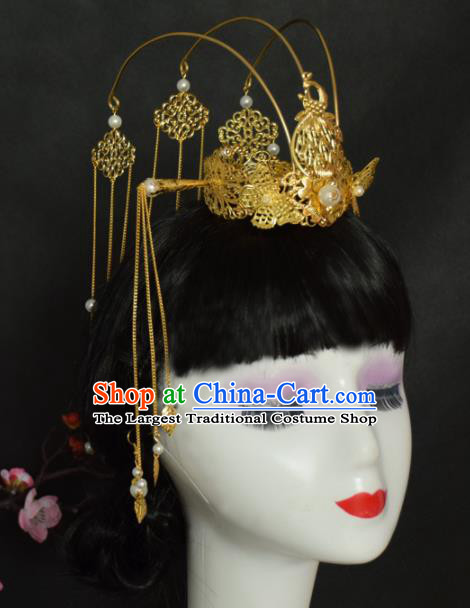 Chinese Ancient Tang Dynasty Queen Phoenix Coronet Hairpins Traditional Hanfu Court Hair Accessories for Women