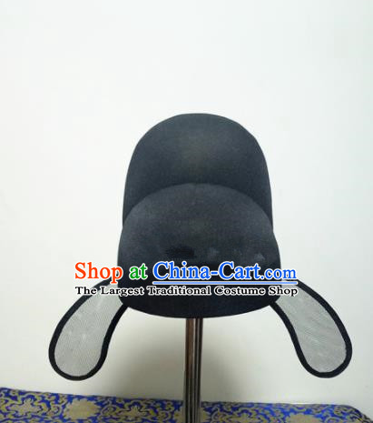 Chinese Traditional Handmade Tang Dynasty Minister Black Hat Ancient Drama Officer Headwear for Men