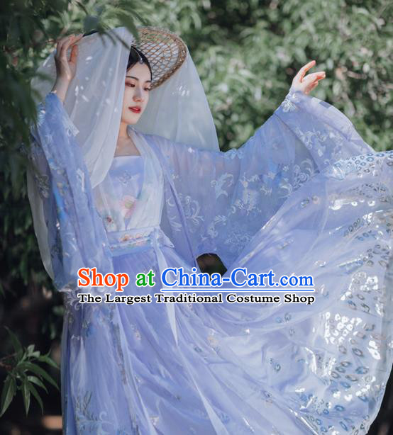 Traditional Chinese Tang Dynasty Imperial Consort Purple Hanfu Dress Ancient Palace Royal Princess Historical Costumes for Women