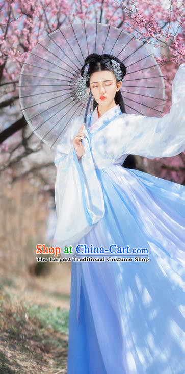 Traditional Chinese Jin Dynasty Court Hanfu Dress Ancient Royal Princess Historical Costumes for Women
