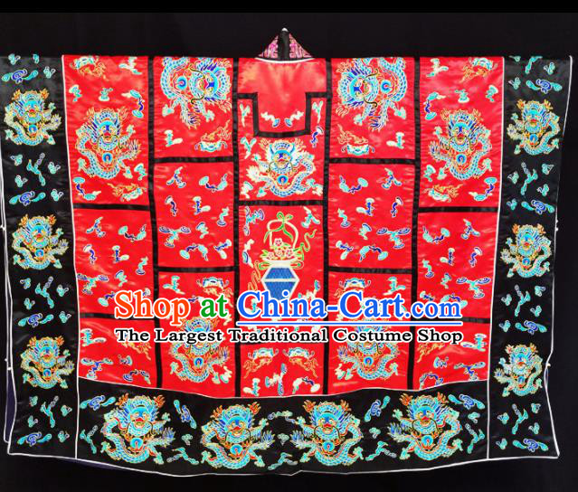 Chinese Ancient Taoist Priest Embroidered Dragon Red Cassocks Traditional Taoism Vestment Costume