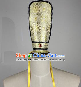 Chinese Ancient Prince Golden Hairdo Crown Traditional Han Dynasty Nobility Childe Headwear for Men