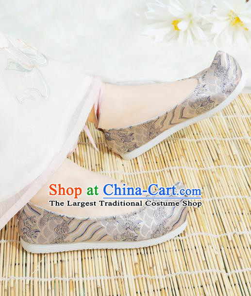 Chinese National Pink Hanfu Shoes Traditional Princess Shoes Embroidered Shoes for Women