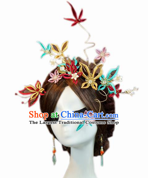 Traditional Chinese Wedding Hair Accessories Ancient Bride Butterfly Hair Clasp Hairpins Complete Set for Women