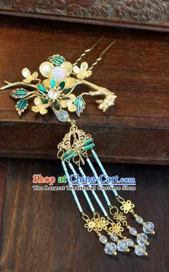 Traditional Chinese Ancient Bride Hair Clip Hanfu Court Queen Hairpins Handmade Hair Accessories for Women