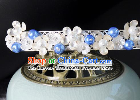 Traditional Chinese Ancient Hanfu Plum Hair Crown Court Queen Hairpins Handmade Hair Accessories for Women