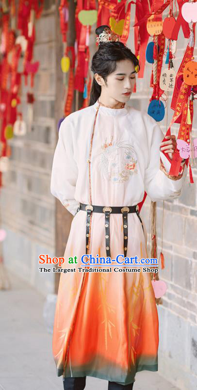 Traditional Chinese Tang Dynasty Royal Prince Replica Costumes Ancient Swordsman Hanfu Clothing for Men