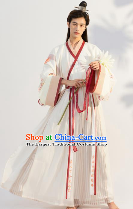 Traditional Chinese Jin Dynasty Royal Prince Replica Costumes Ancient Nobility Childe Hanfu Clothing for Men