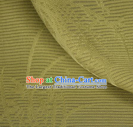 Traditional Chinese Classical Orchid Pattern Yellow Silk Fabric Ancient Hanfu Dress Silk Cloth