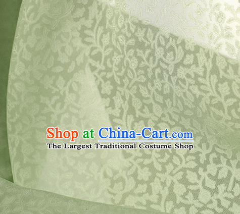 Traditional Chinese Classical Twine Pattern Light Green Silk Fabric Ancient Hanfu Dress Silk Cloth