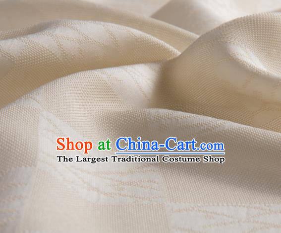 Traditional Chinese Classical Pattern Beige Silk Fabric Ancient Hanfu Dress Silk Cloth