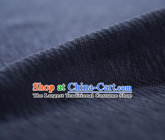 Traditional Chinese Classical Rhombus Pattern Design Navy Silk Fabric Ancient Hanfu Dress Silk Cloth