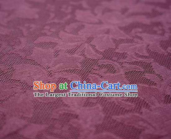 Traditional Chinese Classical Iris Flowers Pattern Design Purple Silk Fabric Ancient Hanfu Dress Silk Cloth