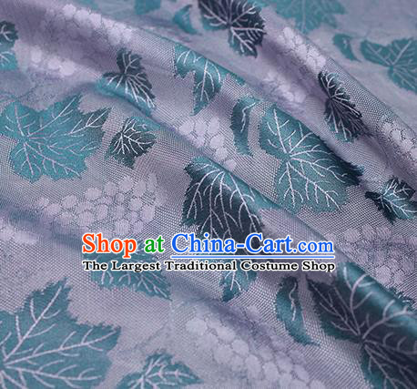 Traditional Chinese Classical Twine Grape Pattern Purple Silk Fabric Ancient Hanfu Dress Silk Cloth