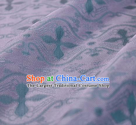Traditional Chinese Classical Pattern Purple Silk Fabric Ancient Hanfu Dress Silk Cloth