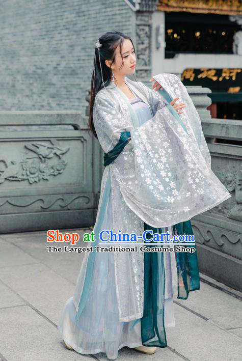 Traditional Chinese Tang Dynasty Replica Costumes Ancient Royal Princess Hanfu Dress for Women