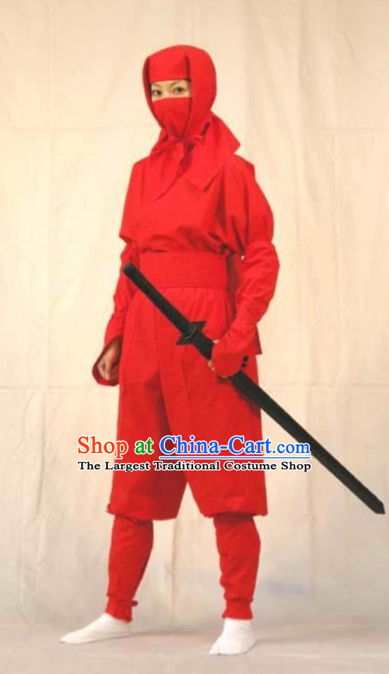 Ancient Japanese Ninja Costume Japan Ninja Costumes Fighter Suits Complete Set for Men or Women
