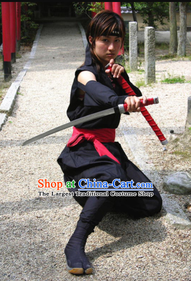 Ancient Japanese Ninja Suit Costume Japan Ninja Costumes Fighter Suits Complete Set for Men or Women