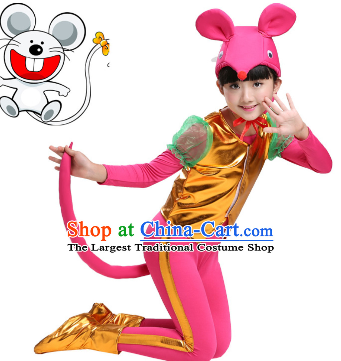 Chinese Lunar New Year Celebration Rat Year Mouse Dance Costume Complete Set