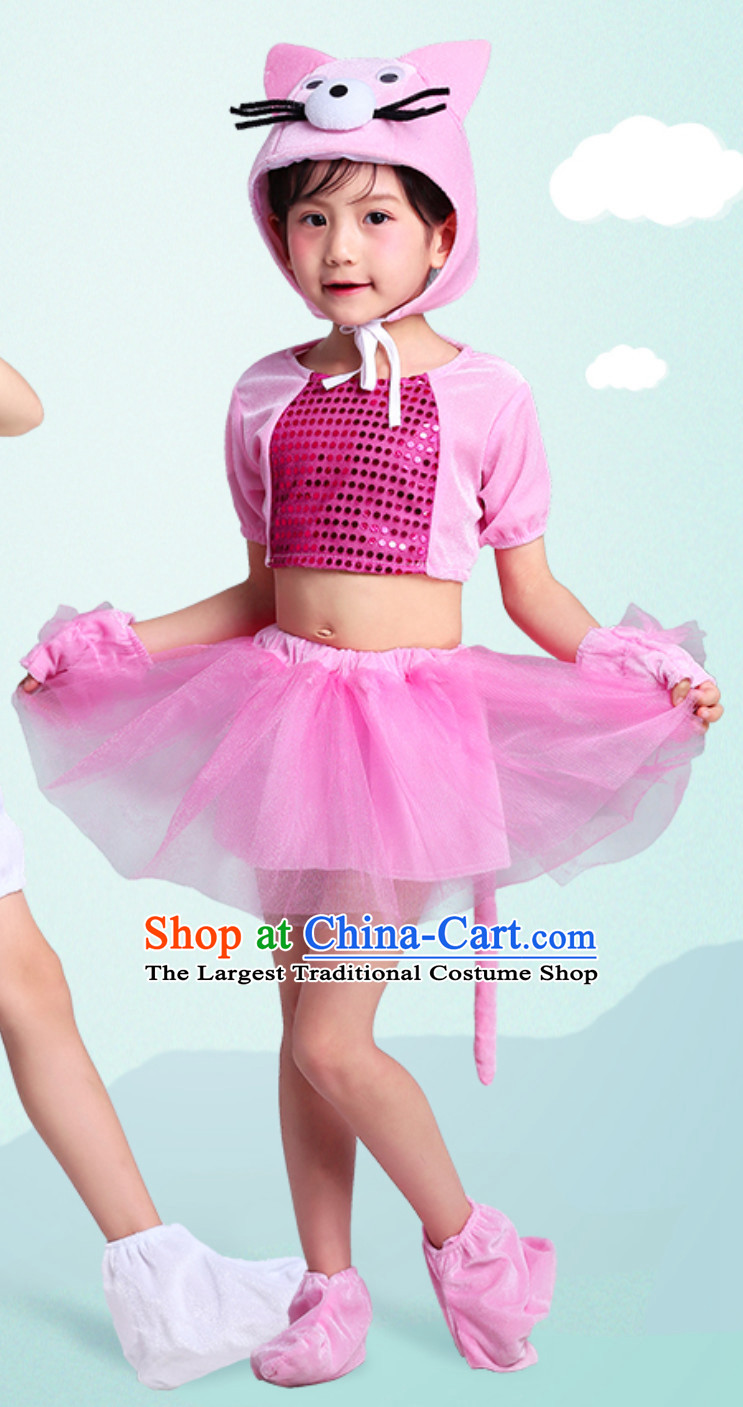 Chinese Lunar New  Year Rat Year Mouse Dance Costume Complete Set