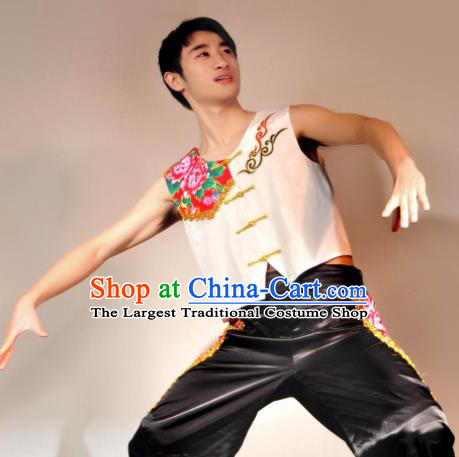 Traditional Chinese Folk Dance Costume Yanko Dance Stage Show Clothing for Men