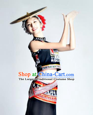 Traditional Chinese Dai Nationality Peacock Dance Costume Ethnic Dance Stage Show Dress for Women