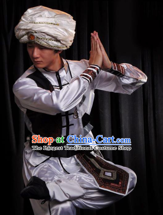 Professional Indian Dance Costume Oriental Dance Stage Show Clothing for Men